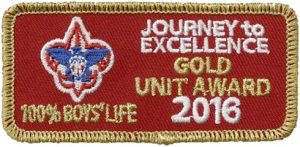Journey to Excellence Gold 100% Boys' Life 2016