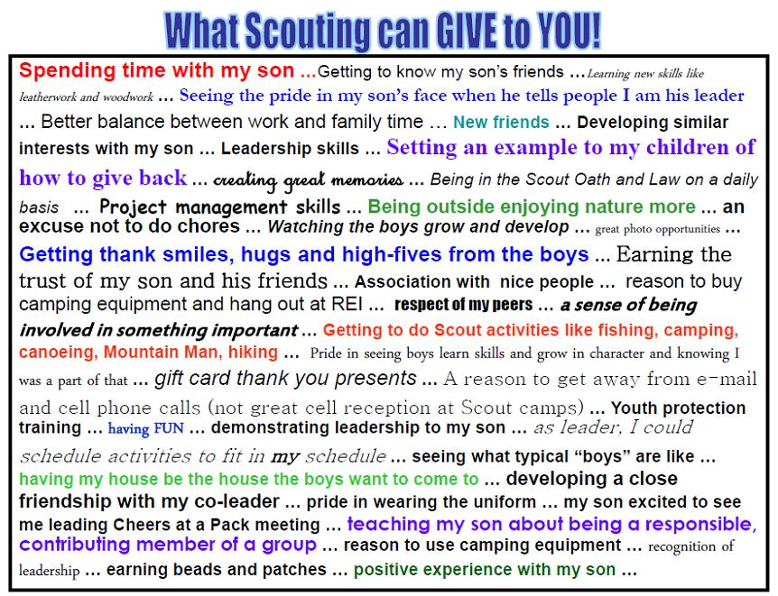 What can scouting give to you